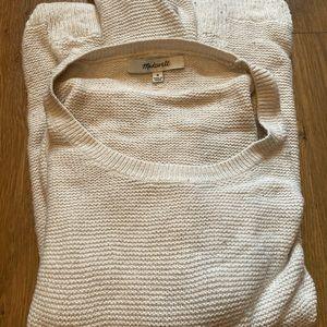 Madewell Off-White Crew Neck Sweater